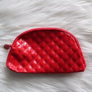 NWOT Ipsy Cosmetics Bag Red Quilted